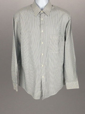 Multicolor Striped Dress Shirt, Size: Large