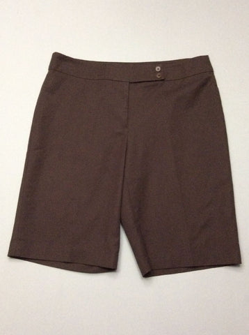 Brown Plain Dress Shorts, Size: 12 R