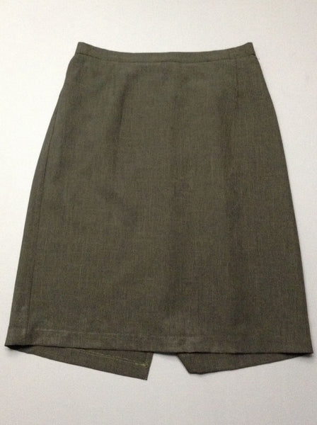 Green Plain Straight Skirt, Size: 16 P