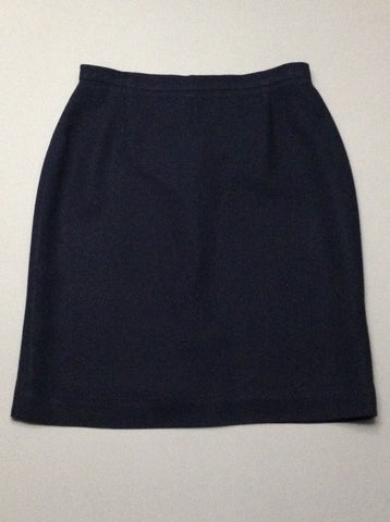 Blue Plain Straight Skirt, Size: 8 R