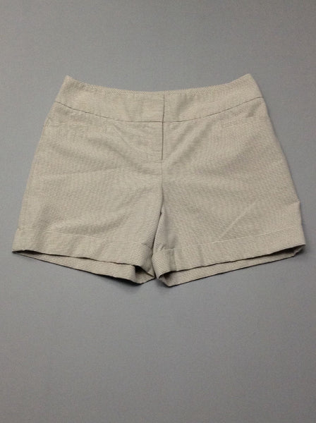 Beige Striped Dress Shorts, Size: 4 R