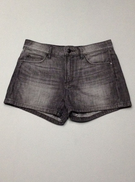 Gray Plain Casual Shorts, Size: 29.0