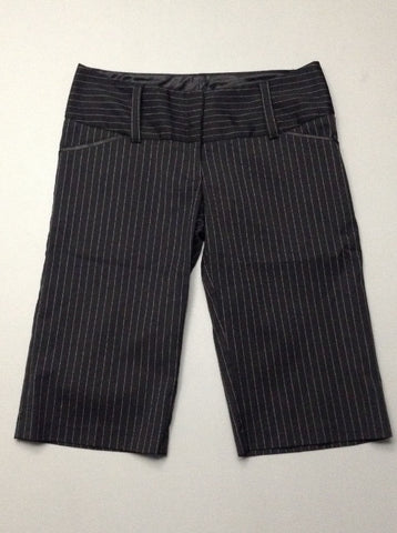 Black Pinstripe Dress Shorts, Size: 5 R
