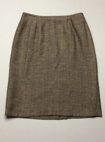 Black Pattern Straight Skirt, Size: 8 R