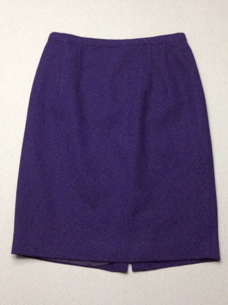 Purple Plain Straight Skirt, Size: 8 R