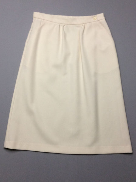 White Plain A-Line Skirt, Size: 10 R