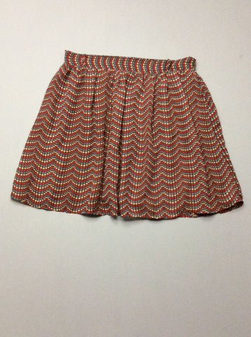 Brown Polka Dot Mini Skirt, Size: Medium