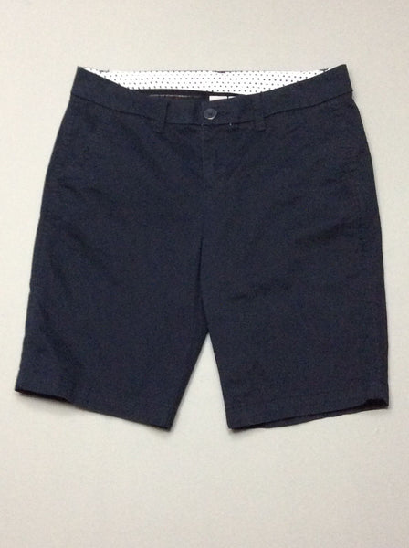 Blue Plain Casual Shorts, Size: 4 P