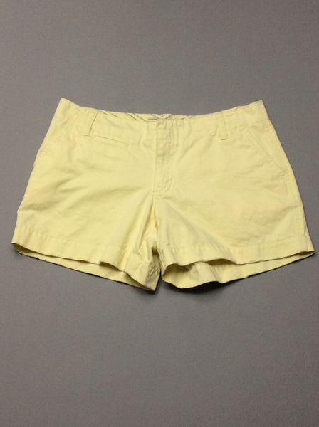 Yellow Plain Casual Shorts, Size: 2 R