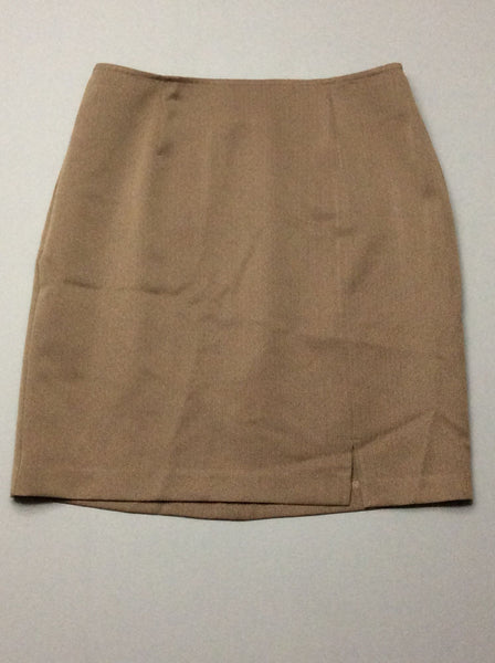 Beige Pattern Straight Skirt, Size: 10 P