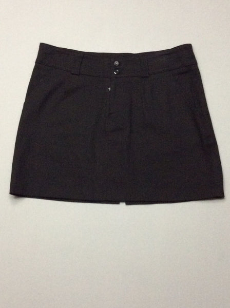 Black Plain A-Line Skirt, Size: 9 R