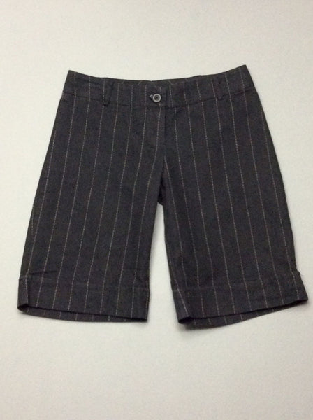 Black Pinstripe Dress Shorts, Size: X-Small