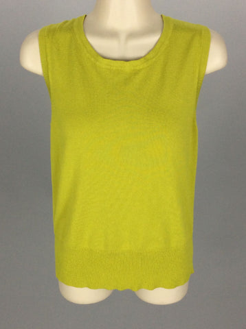 Green Bright-Vibrant Knit Top, Size: Large