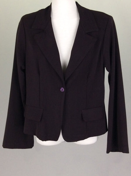 Purple Plain 1-Button Blazer, Size: 9 R