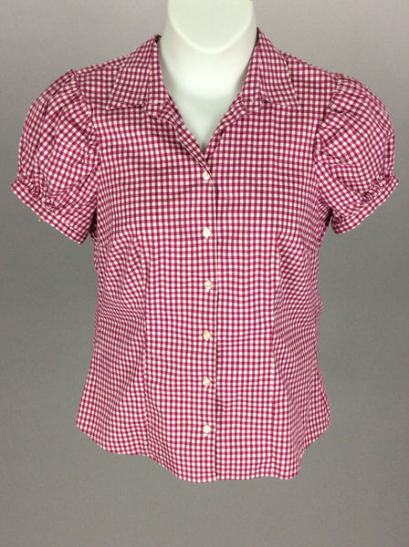 Multicolor Checkered Button Down Shirt, Size: Large
