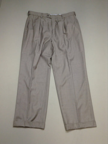 Gray Plain Dress Pants, Size: 36/32 R