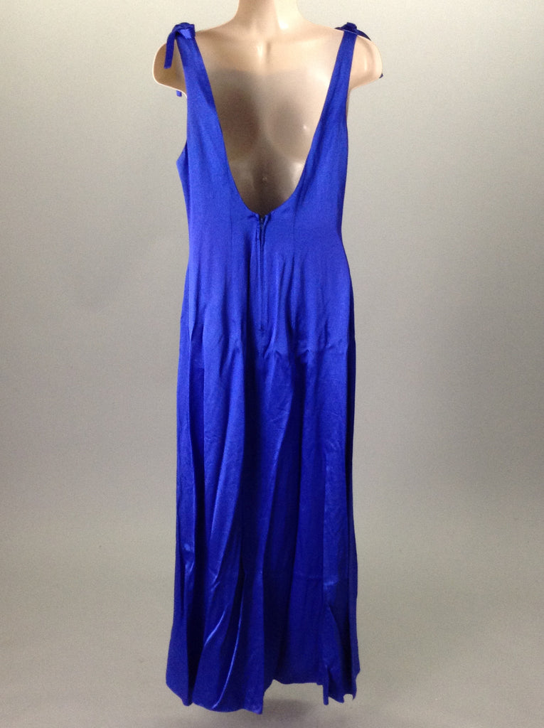 Zum Zum Blue 50% Rayon 50% Acetate Formal Cocktail Dress Size: 7/8 R