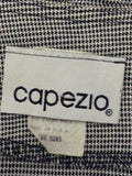 Capezio Black 60% Acetate 40% Rayon Checkered Traditional Blouse Size: Medium