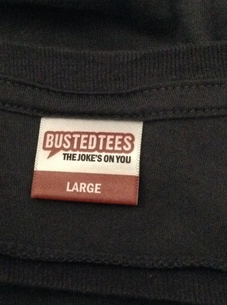 busted tees Gray 100% Cotton Printed Design Graphic T-Shirt Size: Large