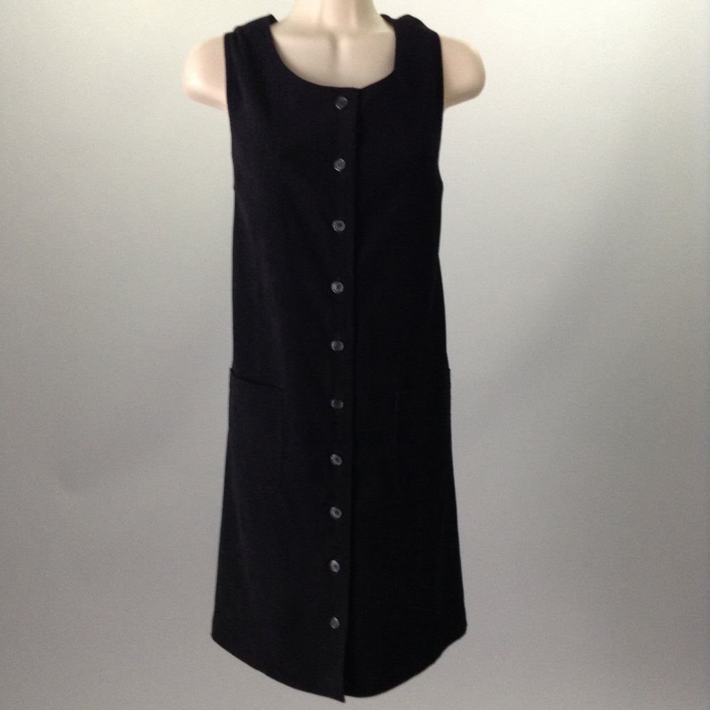 Talbots Black Dressy Sweater Dress Size: 14 R