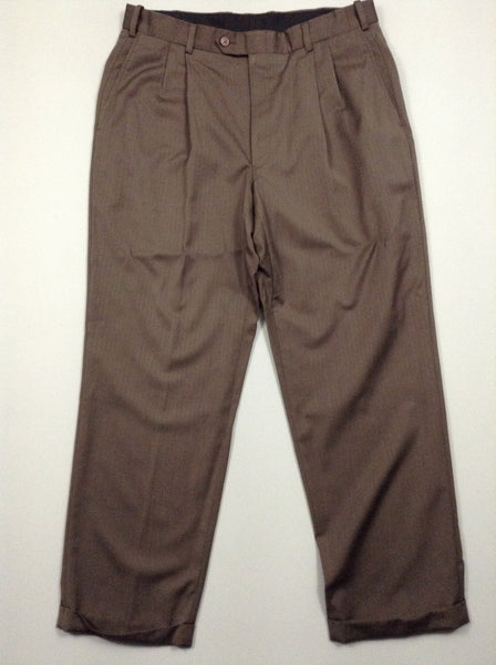 Brown Plain Dress Pants, Size: 36/30 R