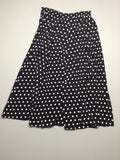 JH Collectibles Black 100% Rayon Polka Dot Maxi Skirt Size: 12 R