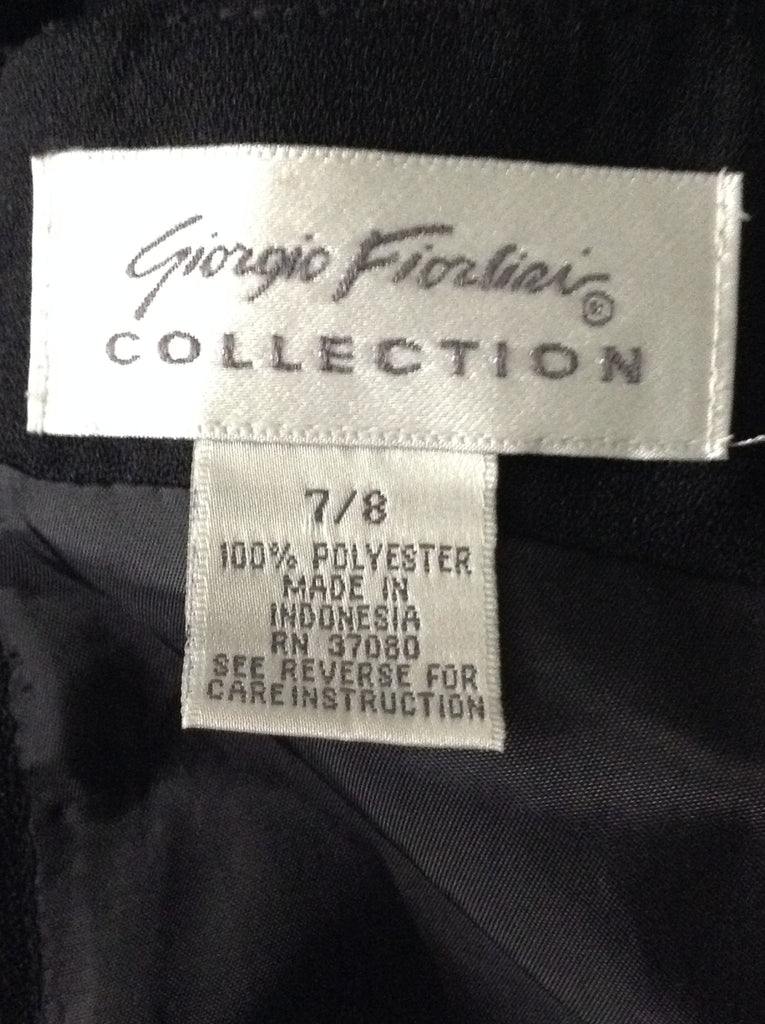 Giorgio Fiorlini Black 100% Polyester Casual Cocktail Dress Size: 7 / 8 R