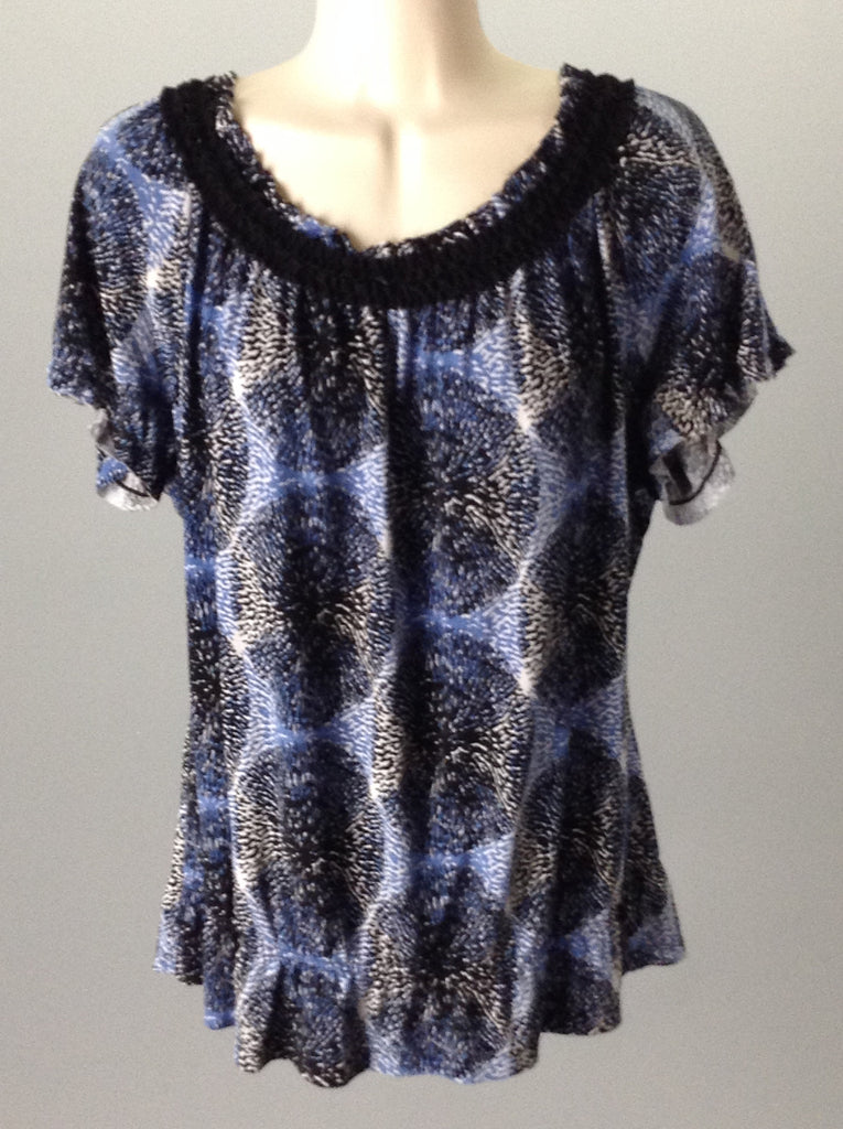 East Fifth 95% Polyester 5% Spandex Traditional Blouse Size: Large
