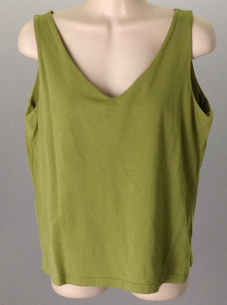 Green 95% Cotton 5% Spandex Plain Traditional Blouse, Size: Large