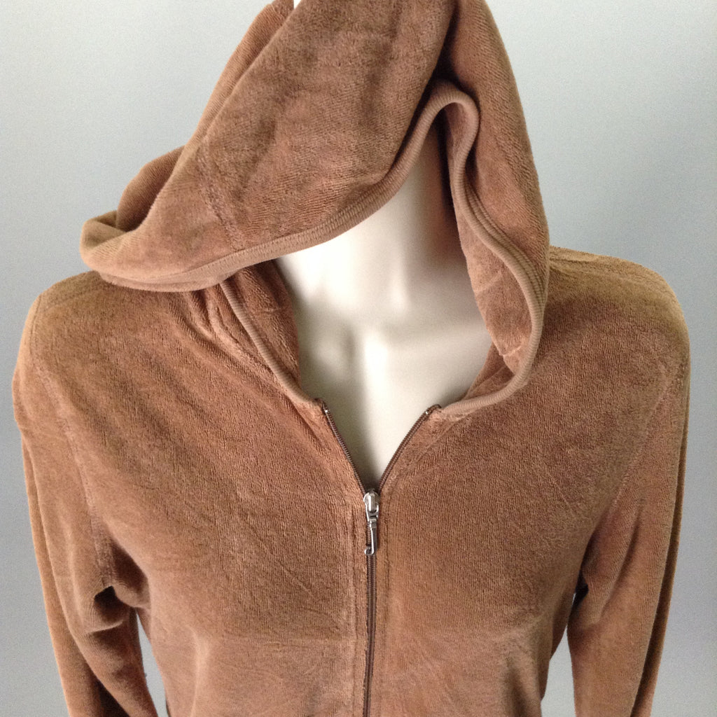 Juicy couture 80% Cotton 20% Polyester Plain Hooded Zip-Up Jacket Size: Medium