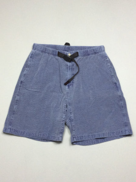 Blue 100% Cotton Plain Casual Shorts, Size: X-Large