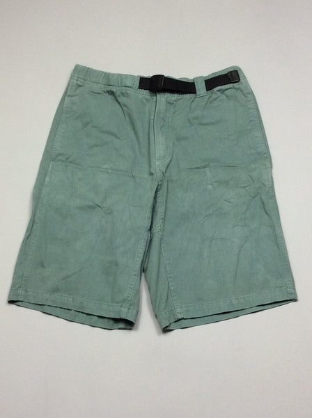 Green 100% Cotton Plain Casual Shorts, Size: Medium