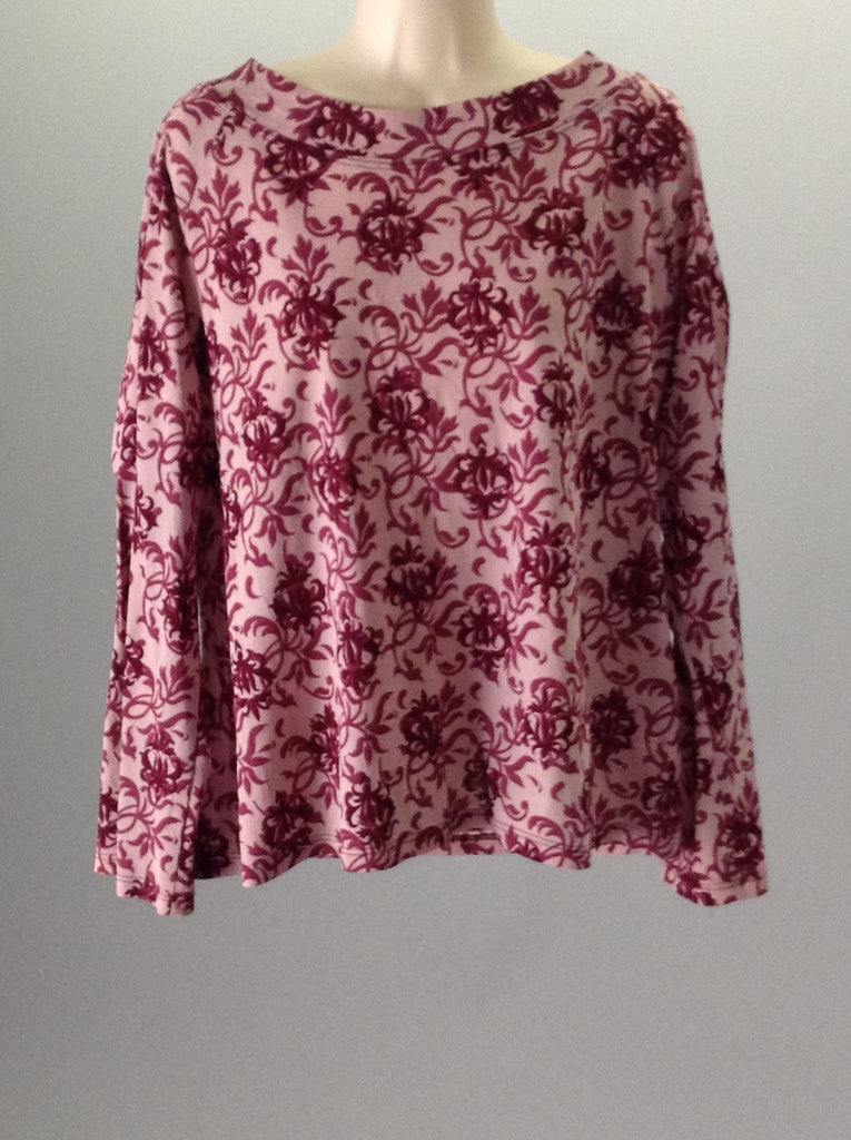 Venezia Pink Pattern Traditional Blouse Size: 18 R