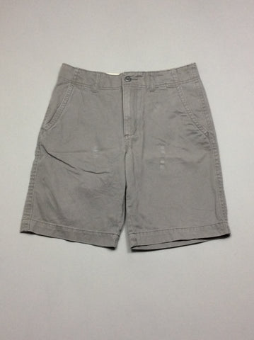 Gray 100% Cotton Plain Casual Shorts, Size: 29 R