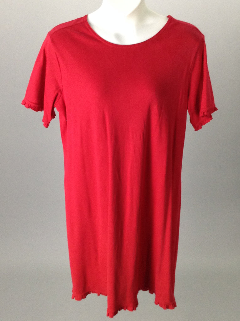 Coldwater Creek Red Long Shirt Dress Size: XL