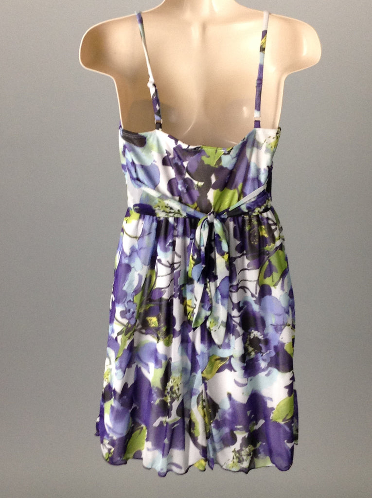 iZbyer Purple 100% Polyester Bright-Vibrant Dressy Club Dress Size: Small