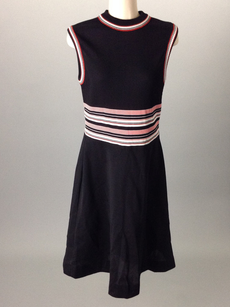 No Brand Black 100% Polyester Trim Casual Traditional Dress Size: 16 R