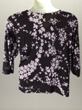 Fashion bug 90% Polyester 10% Spandex Floral Pattern Tunic Top Size: 22/24 R