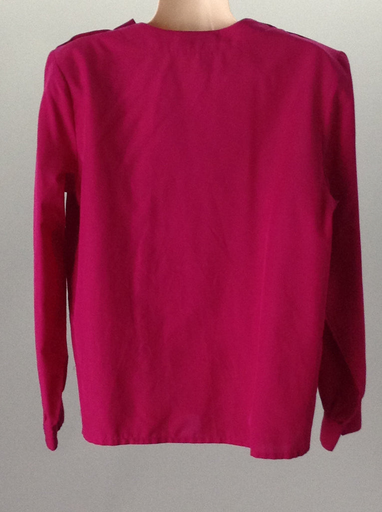 Laura and Jane Red 100% Polyester Plain Traditional Blouse Size: 12 R
