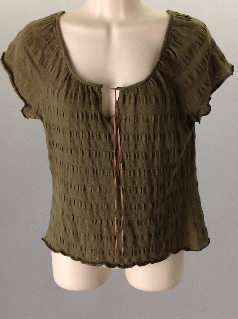 mind games Green Funky Traditional Blouse Size: 2