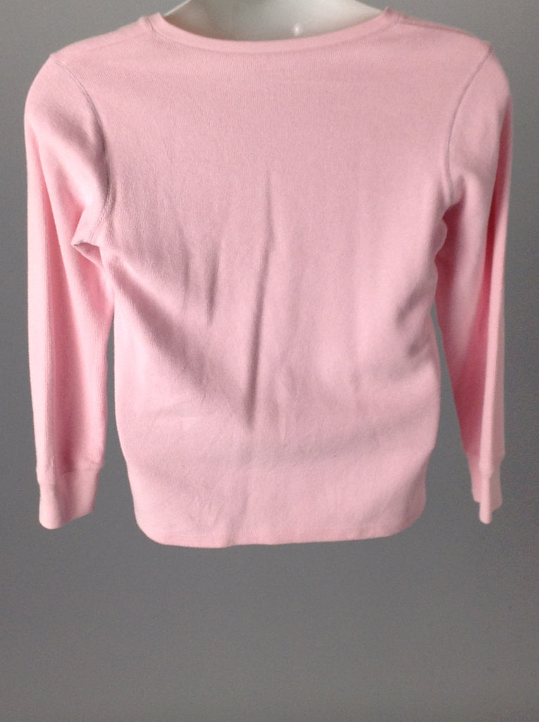 Pink 70% Cotton 30% Polyester Trim Button half down, Size: Medium