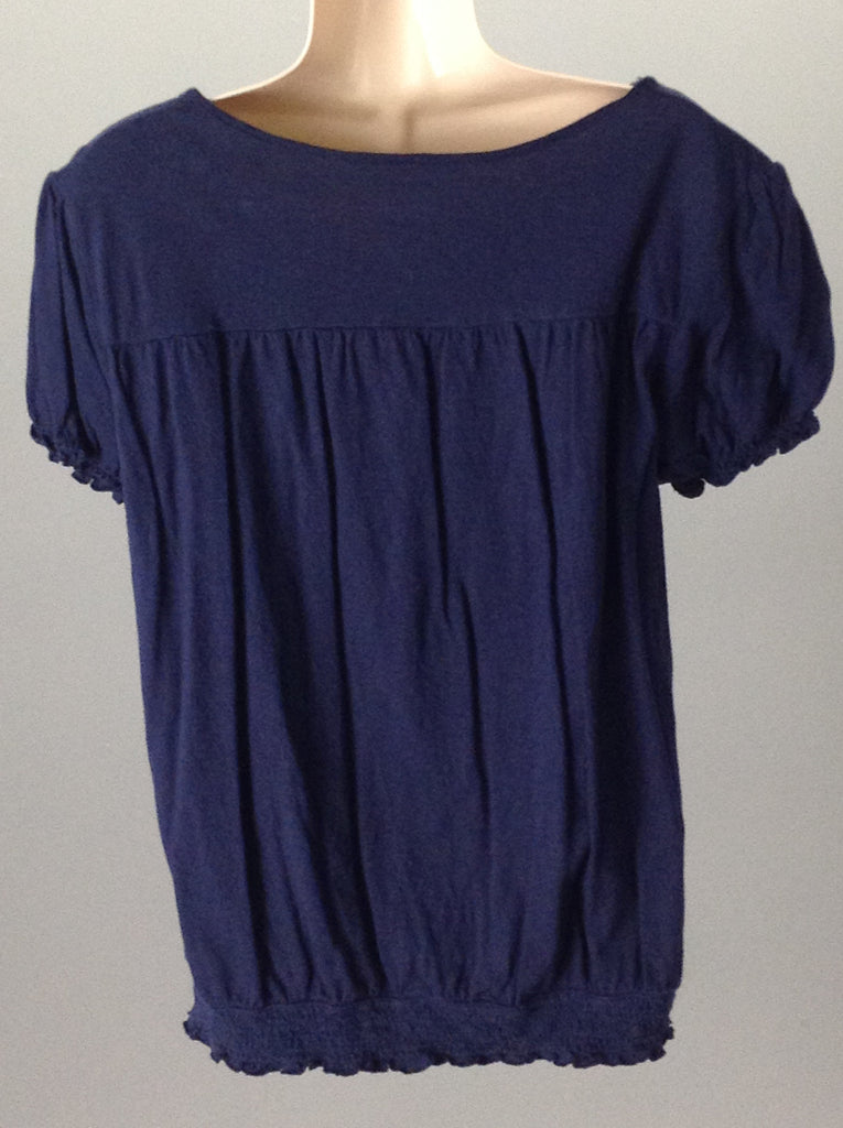 Blue 100% Cotton Hippie Traditional Blouse, Size: X-Large
