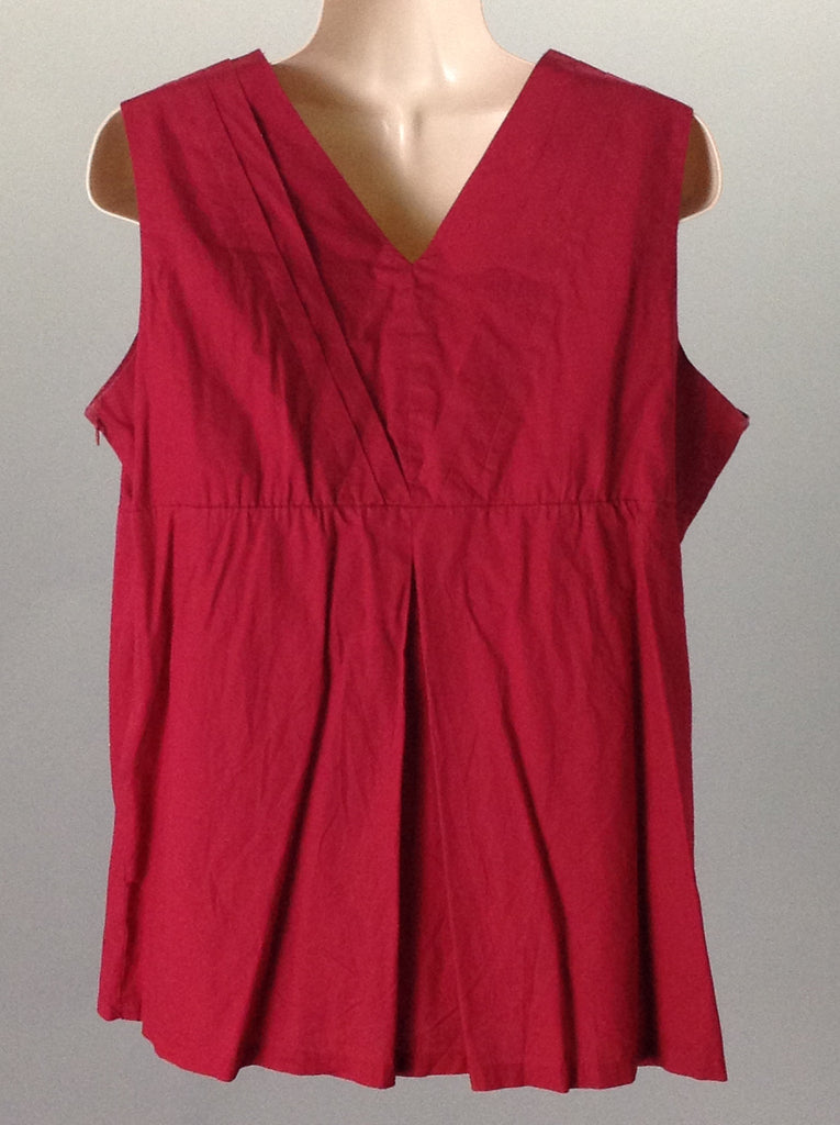 Duo Red 100% Cotton Plain Tunic Top, Size: Large