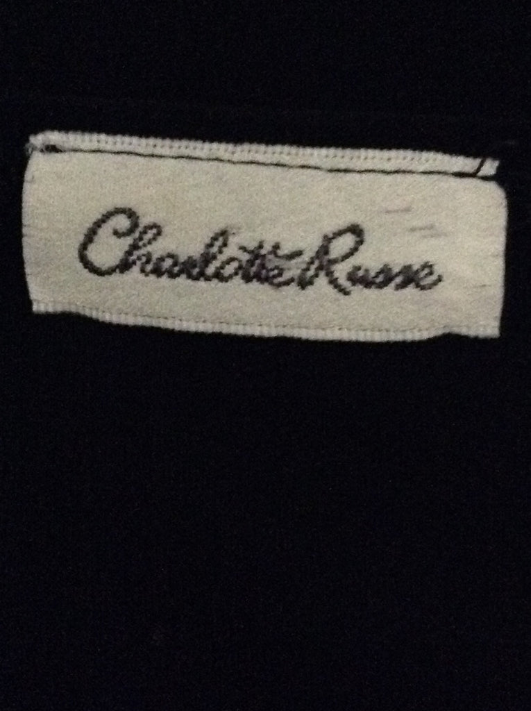 Charollete Russe Black Funky Traditional Blouse Size: 14