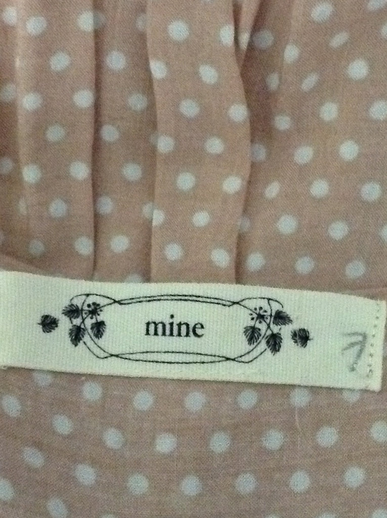 Mine Pink Polka Dot Traditional Blouse