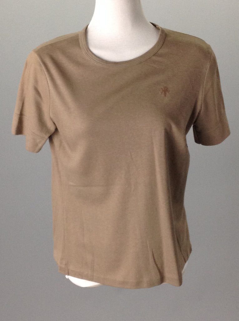 Brown 50% Polyester 50% Cotton Plain Traditional Blouse, Size: Large