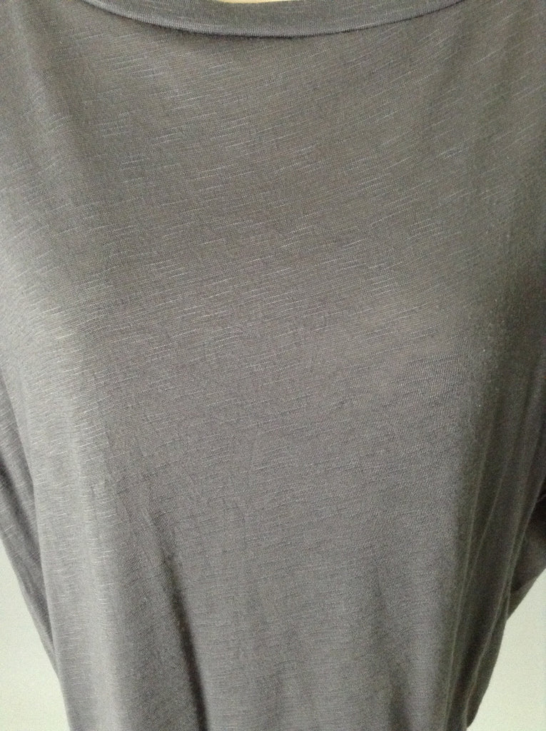 Cato Gray 65% Polyester 35% Rayon Plain Tunic Top Size: Small