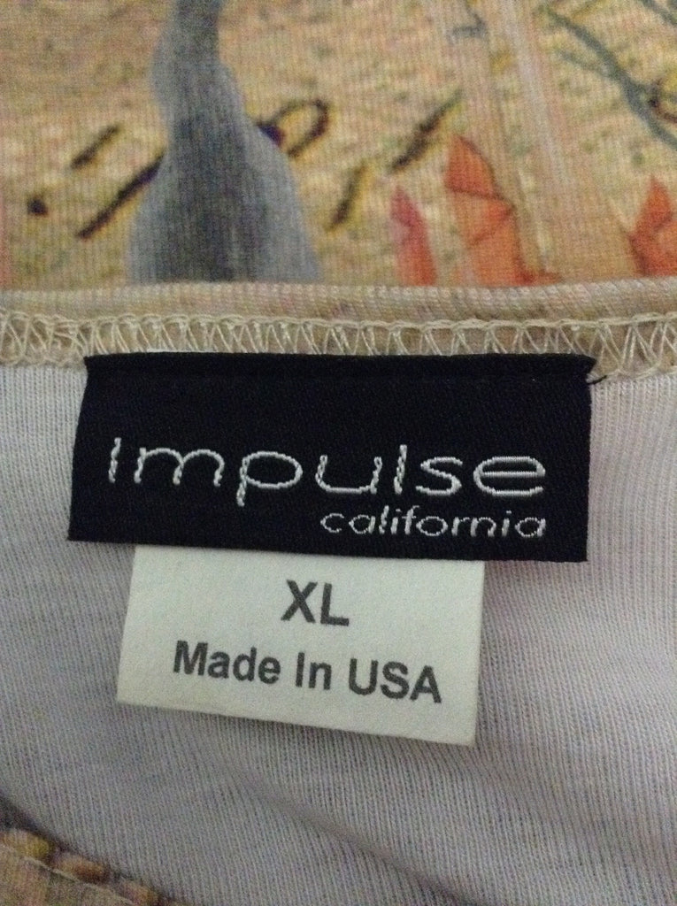 Impulse 95% Polyester 5% Spandex Traditional Blouse Size: X-Large
