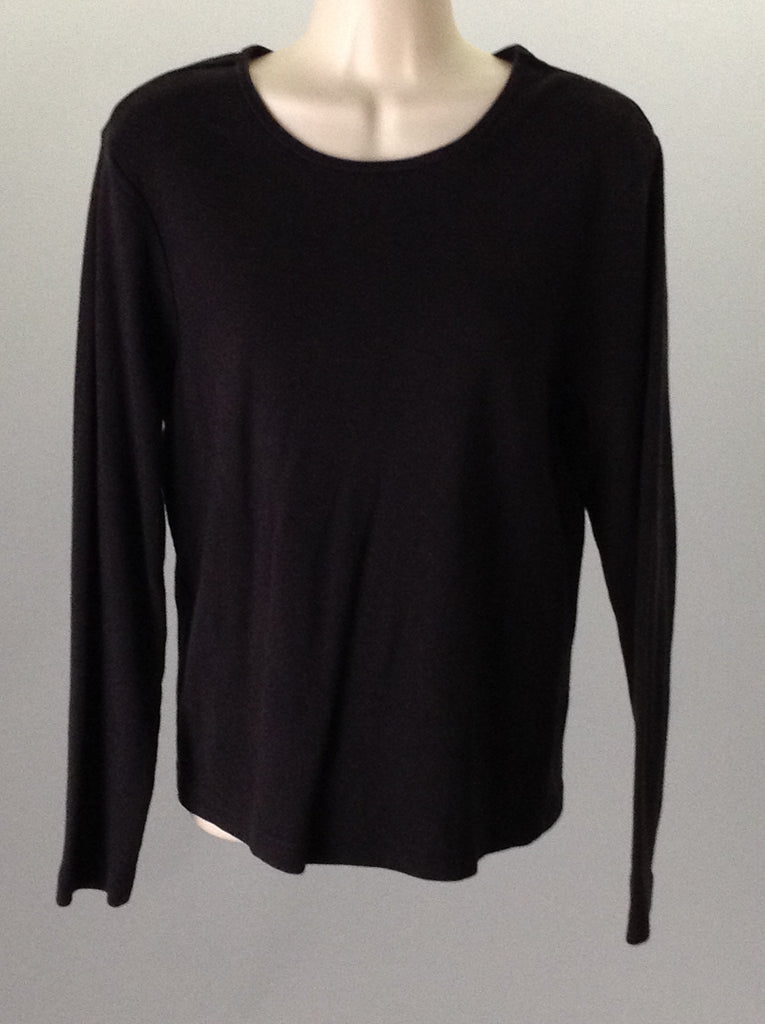 Gap Black 100% Cotton Plain Regular Regular Sweater Size: Large