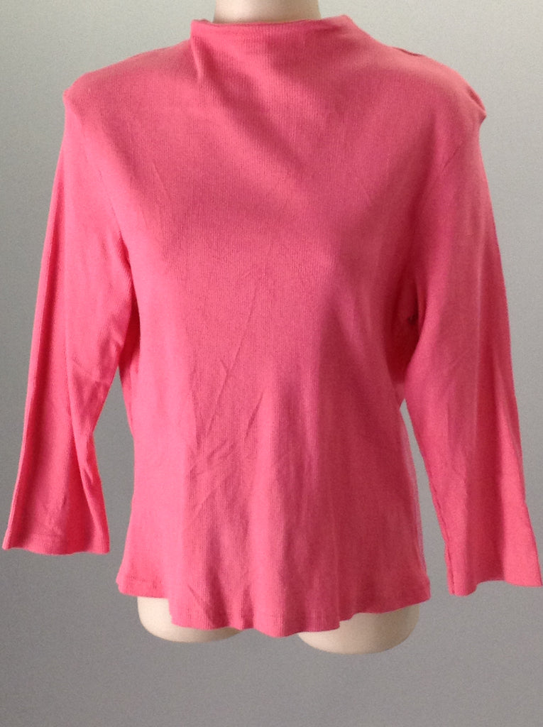 Crossroads Pink 95% Cotton 5% Lycra Plain Knit Top Size: X-Large